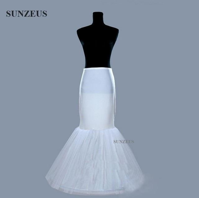 Mermaid Petticoat Wedding Dress Underskirt Birdal Enaguas Long Ivory Jupon Stock