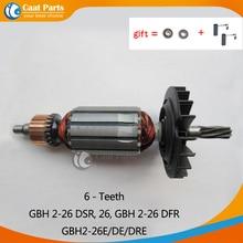 AC220 240V 6 ฟัน Armature โรเตอร์ Anchor มอเตอร์สำหรับ Bosch GBH2 26 GBH2 26DSR GBH2 26DFR GBH2 26E GBH2 26DE GBH2 26DRE