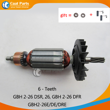 AC220 240V 6 teeth Armature Rotor Anchor Motor for Bosch GBH2 26 GBH2 26DSR GBH2 26DFR GBH2 26E GBH2 26DE GBH2 26DRE