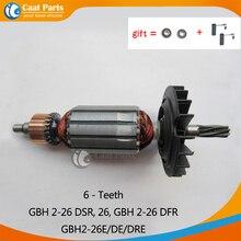AC220 240V 6 zęby armatura wirnika kotwica silnika dla Bosch GBH2 26 GBH2 26DSR GBH2 26DFR GBH2 26E GBH2 26DE GBH2 26DRE