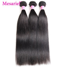 Mesariel Brazilian Straight Hair 3 Bundles Non remy Natural Color 8-30inch 100 Human Hair Weave Bundles Extensions(China)
