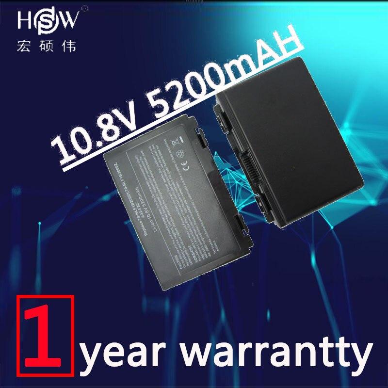 HSW 5200mAh 6 cells battery for Asus k50ij k50ab a32 f82 k50id k42j k40in k50in F52 F82 K40 K50 K40E K51 K60 K70 A32-F52 A32-F82 цена и фото