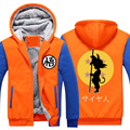 Son Goku Cosplay Costume Dragon Ball Z Hoodie Winter Coat Jacket Student Anime Men Warm Hooded Sweatshirts