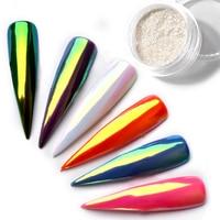Top Neon Glitter Unicorn Mirror Nail Powder 0.2g Ultra-thin Aurora Mermaid Chrome Pigment Manicure DIY Nail Art Decorations