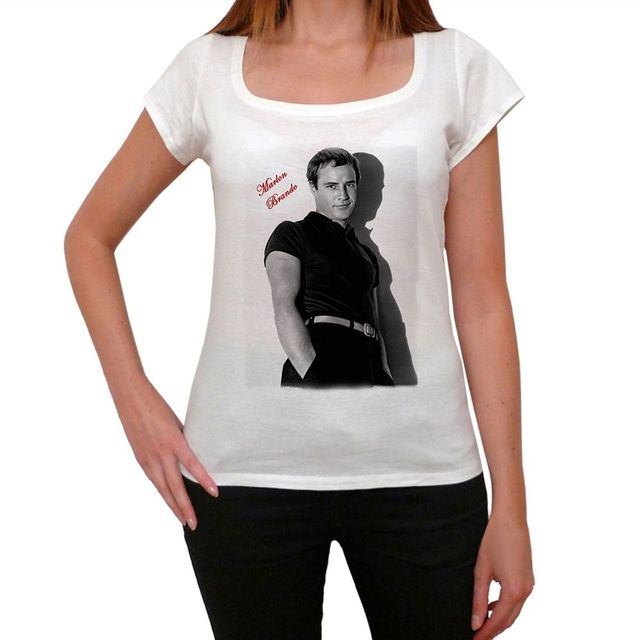 6868115f476 Marlon Brando Tshirt Womens T shirt-in T-Shirts from Women s ...