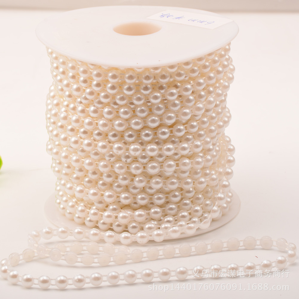 5 Meters 6mm pearl Half Beads cotton Line Chain pearls Garland Wedding Party Decoration party Supplies Bride Bouquet accessories