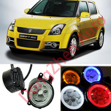 2015 new auto accessories car LED front fog lights strobe line group For Suzuki Swift 2005-2013 car styling parking