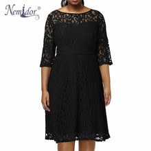 Nemidor Vintage O-neck Lace Dress