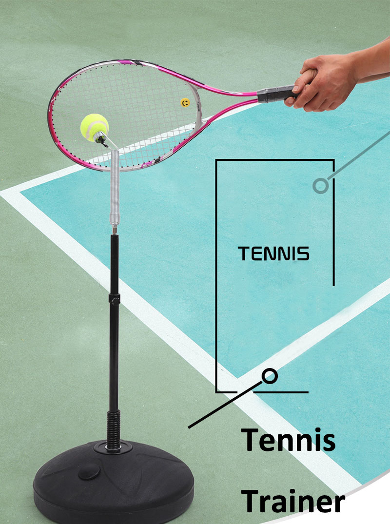 Adjustable Tennis Trainer Hit Exercise Tennis Racket Tennis Practice Sparring Device Tenis Coach Padel Tennis Training