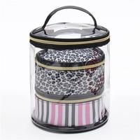 Cute Cosmetic Bag Women Travel Bucket Necessaries High Capacity Storage Makeup Organizer Handbags 3 Layers Toiletry Wash Pouch