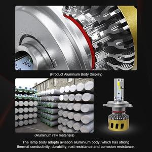 Image 5 - Roadsun lâmpada led para farol, h1, h7, h11, hb3, hb4, h8, três cores, alterável, 3000k lâmpada automática 4300k 6000k
