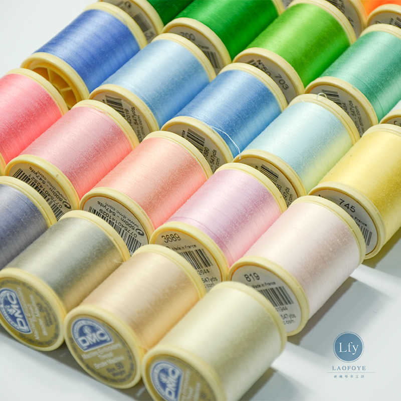 French embroidery LUNEVILLE crochet, DMC hook bead thread, sewing thread 500 meters