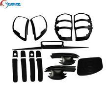 for ford ranger T6 wildtrak accessories ABS car styling black kit full set for ford ranger