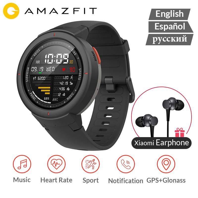 AMAZFIT Verge GPS montre intelligente IP68 étanche 1.3 AMOLED écran réponse aux appels fréquence cardiaque Smartwatch Multi Sports Version mondiale