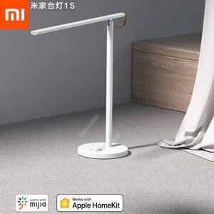 Image 1 - Najnowszy Xiaomi Mijia inteligentny pilot lampa biurkowa 1S 4 tryby oświetlenia ściemnianie lampka do czytania z aplikacją Mijia HomeKit