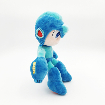 2018 Megaman Game Rockman Plush Toy Doll Blue Color Anime Stuffed Doll CAPCOM Electronic Games Toys 26cm Free Shipping