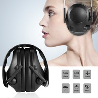 LESHP Tactical Headphones For Hunting Shooting Sport Noise TAC 6s Canceling Electronic Earmuffs Electric Shock Absorber