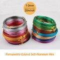 1.0mm 18 gauge 20m/piece multi colors anadized aluminum wire coil soft DIY jewelry craft versatile painted aluminium metal wire
