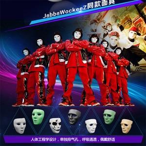 Image 3 - 1 шт., маска для хип хоп танца призрака, маска для лица белого цвета для Хэллоуина, карнавалов, регулируемый ремешок, маска для мужчин и женщин