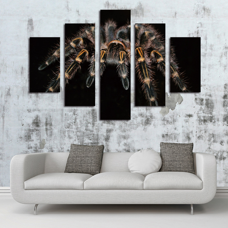 5 Piece Canvas Art Sale Animal Painting Unframed Picture Wall Art Home  Decor Big Spider Canvas