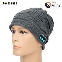 Wireless Bluetooth Earphone Winter Woolen Smart Hat Cap Music MP3 Cool Stereo Sound Outdoor/Sport