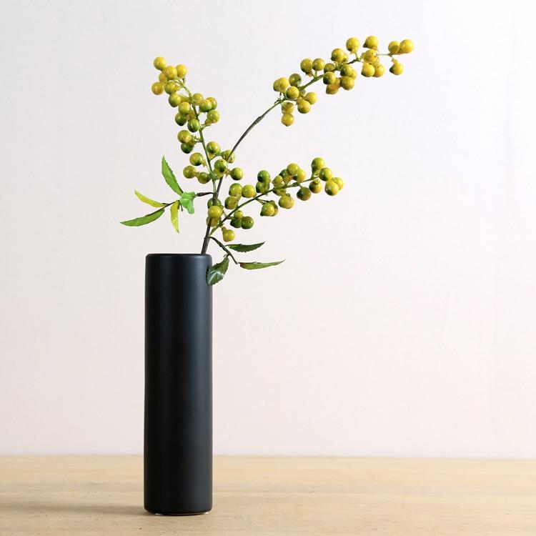 aliexpress koop eenvoudige moderne mat zwart keramische art