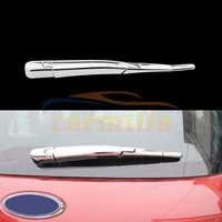 4Pcs Set Car Rear Water Spray Blade Refitting ABS Chrome Cover Sticker For Ford New Everest