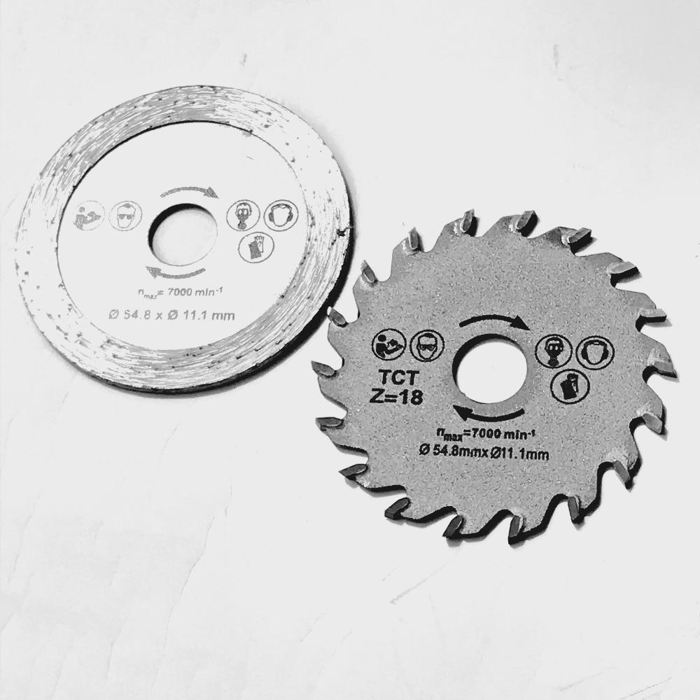 Free Shipping Of 2PCS/set 54.8*11.1mm Diamond Saw Blade&TCT Saw Blade For Home DIY Decoration Work General Cutting Purpose