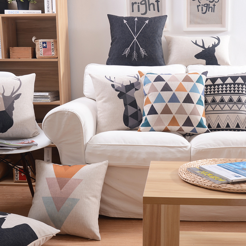 Free shipping Nordic style Cushions Home Decor minimalist geometry Cushions For Sofas soft and comfortable Decorative Cushion