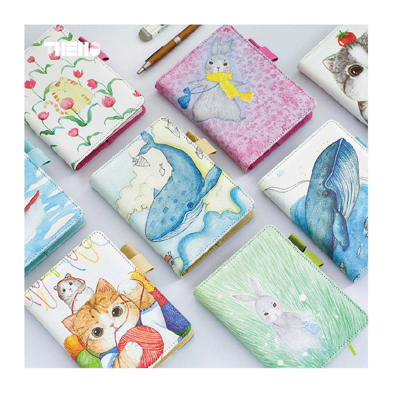 New Weekly planner Cute Diary Leather notebook school paper 80 sheets Small Notepad Creative Trends Statioanry supplies gift 1pc small fresh flower notepad notebook diary notebook korea creative stationery upscale gift cute school supplies