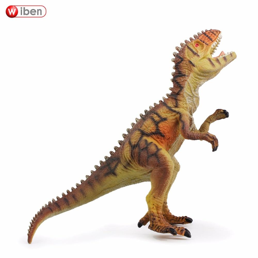 Wiben Jurassic Giganotosaurus Action & Leksaksfigurer Animal Model Collection Levande Handmålade Souvenir Plastleksak Dinosaur G