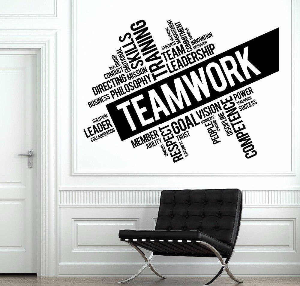Teamwork Words Wall Sticker Office