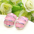 Nice Brand Mantis Shrimp Design Silver Plated Vintage Glass Clip White And Delicate Earrings Jewelry High Quality