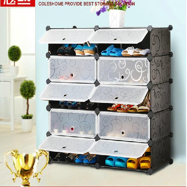 Simple DIY Shoe Rack Creative Modern Multi Purpose Shoe Cabinet
