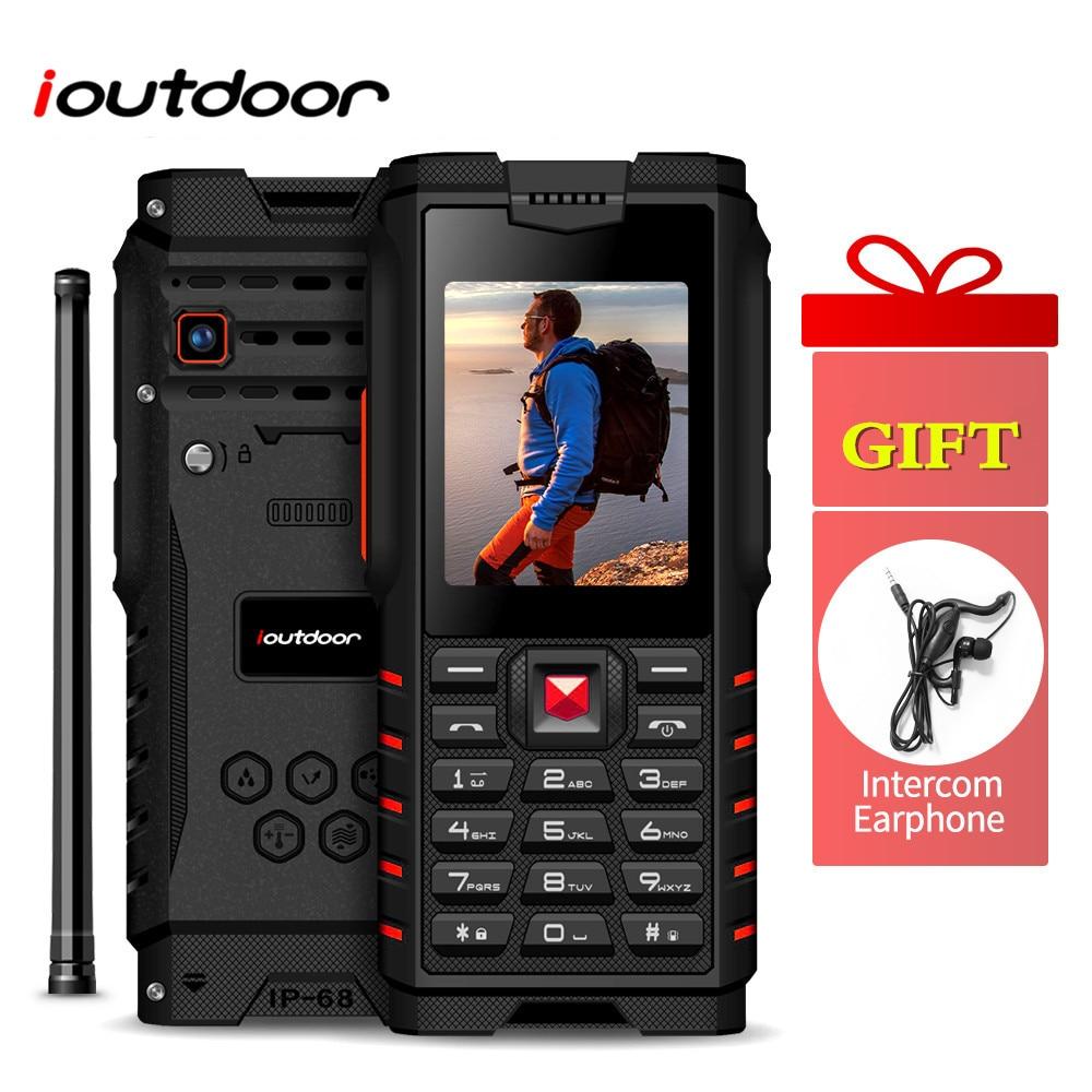 Ioutdoor T2 Feature Mobile Phone IP68 Waterproof 2 Way Radio Walkie Talkie Intercom Tri-proof 2G GSM MP3 Rugged Interphone