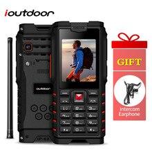 Ioutdoor T2 Feature Mobile Phone IP68 Waterproof 2 Way Radio Walkie Talkie Inter