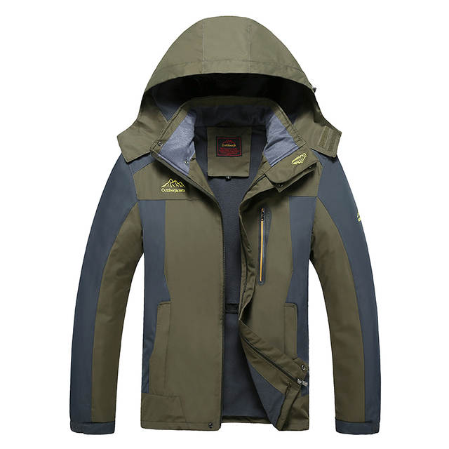6103f1b8a92f7 placeholder Weight 130kg Can Wear Men Outdoor Windbreaker Warm Softshell  Mens Hiking Jackets Waterproof Big Size 7XL