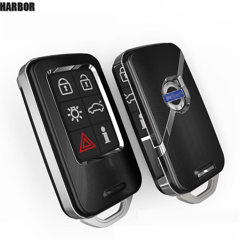 Port Housse Clé de Voiture Pour Volvo V40 V60 S40 S60 S80 V50 V70 XC60 XC70 XC90 S90 Smart Remout porte-clés Sac Accessoires