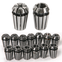 15pcs CNC Engraving Machine ER11 Spring Collet Set 1 7mm 1 8 1 4 Precision For