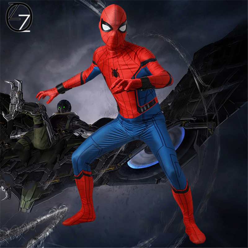 2017 Spider Man Cosplay Costume Peter Benjamin Parker Spider-Man Homecoming Cosplay Outfit Halloween Superhero Spiderman Costum