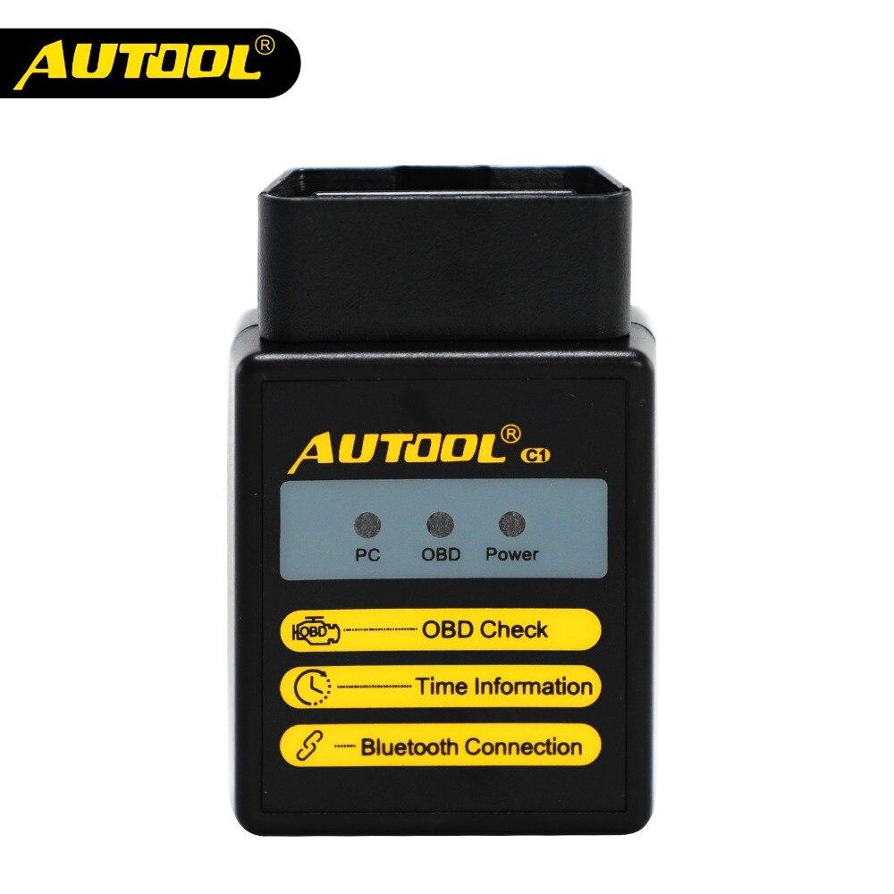 AUTOOL C1 ELM327 V1.5 WIFI Bluetooth OBD2 ULME 327 Scanner OBD 2 Auto Diagnose Werkzeug Automotive Code Reader Scan OBDII 2 Adapter