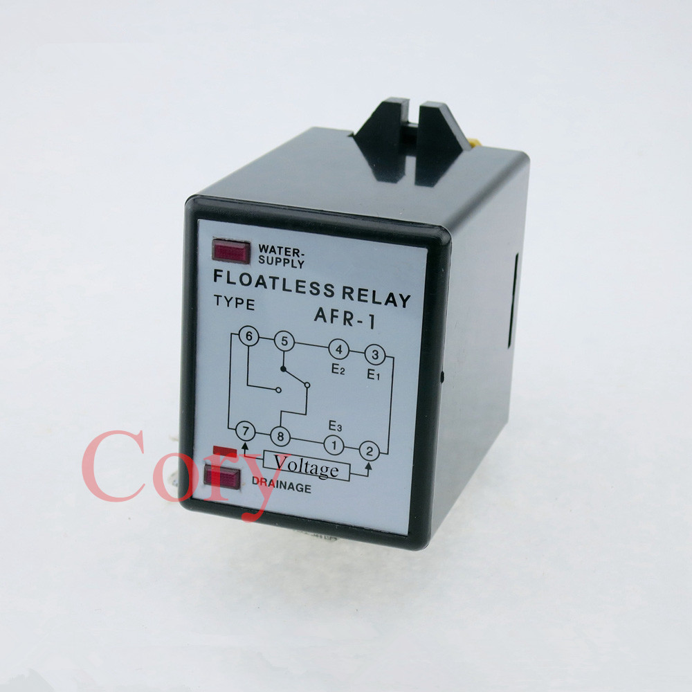 Liquid Water Level Control Sensor Switch Floatless Relay 8 Pin 220V AC AFR-1