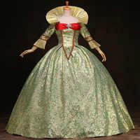 18th Century Langarm Rokoko Barock Prom Party Kleid Europäischen Gericht Marie Antoinette Ball Kleider Theater Kostüme Für Frauen