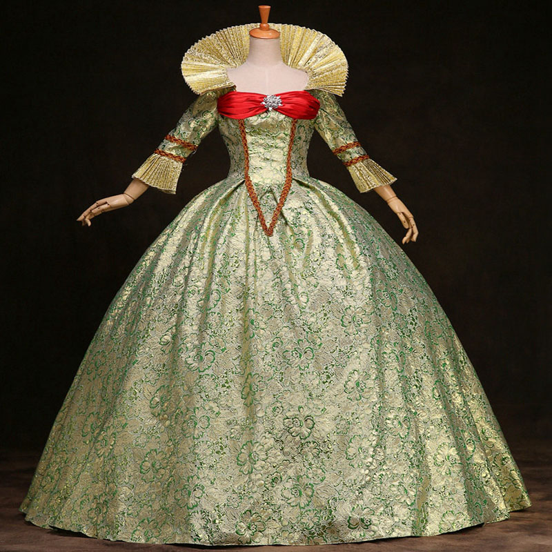 18th Century Long Sleeve Rococo Baroque Prom Party Dress European Court Marie Antoinette Ball Gowns Theater Costumes For Women