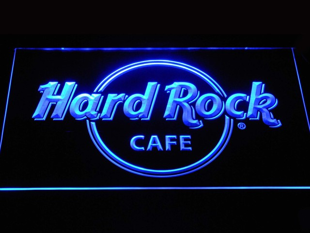 A251 Hard Rock Cafe Luce Al Neon del LED Segni con On/Off Interruttore di 7 Colo