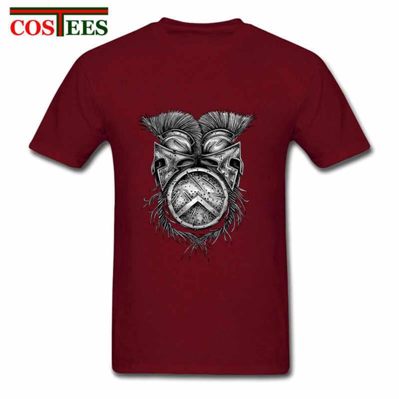 2018 ฤดูร้อนใหม่ Spartan หมวกกันน็อก T เสื้อคอรอบคอผ้าฝ้ายแขนสั้นอัศวินตลกเสื้อยืดผู้ชายมาใหม่นักรบ tee เสื้อ