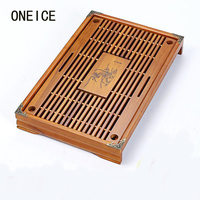 Wood Tea Tray High Quality 43cm*28cm*6cm Chinese Solid Tea Tray Household Tea Board Tea set Kungfu Teasets