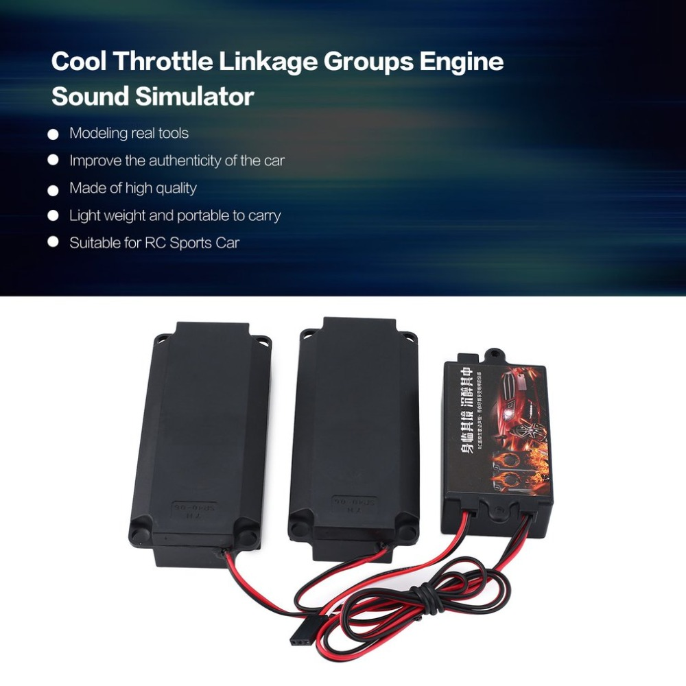 Second Generation Cool Throttle Linkage Groups Engine Sound Simulator with 2 Speakers for RC Sports Car Model Vehicle fzSecond Generation Cool Throttle Linkage Groups Engine Sound Simulator with 2 Speakers for RC Sports Car Model Vehicle fz