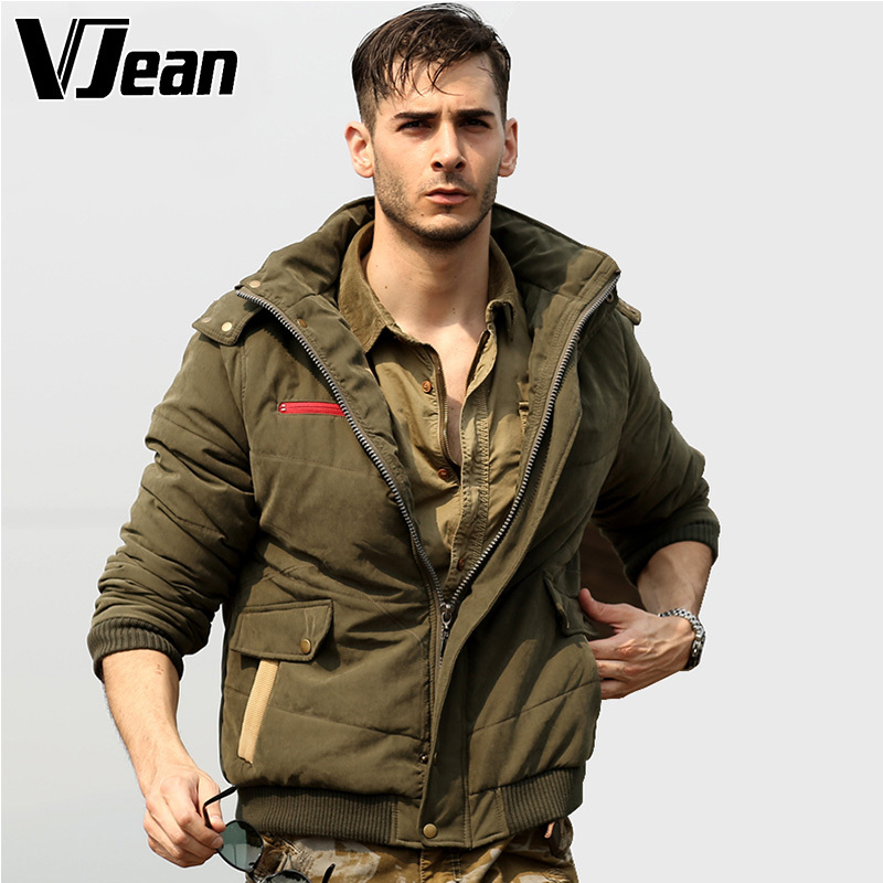 ФОТО V JEAN  Men's Tactical  Full Zip Bomber Jacket with Hood #9B407