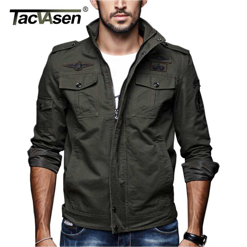 TACVASEN Men Casual jacket Autumn Winter Jackets Coat Army Tactical Military Jacket Cargo Clothes Cotton Overcoat TD-XMKS-003